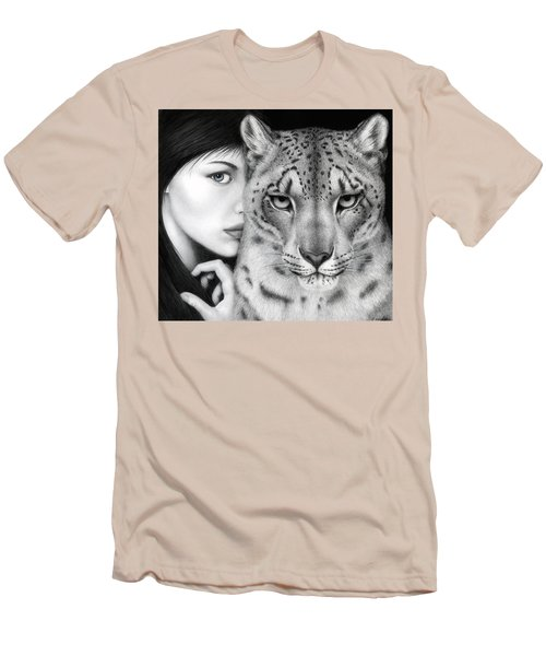 Men's T-Shirt (Slim Fit) featuring the painting The Guardian by Pat Erickson