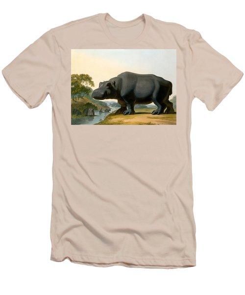 The Hippopotamus, 1804 Men's T-Shirt (Slim Fit) by Samuel Daniell