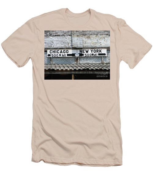 The Intersection II Men's T-Shirt (Slim Fit) by Michael Krek
