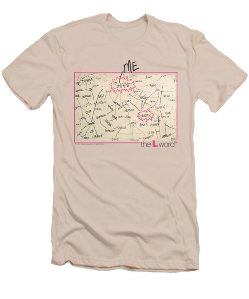 The L Word - Chart Men's T-Shirt (Slim Fit)