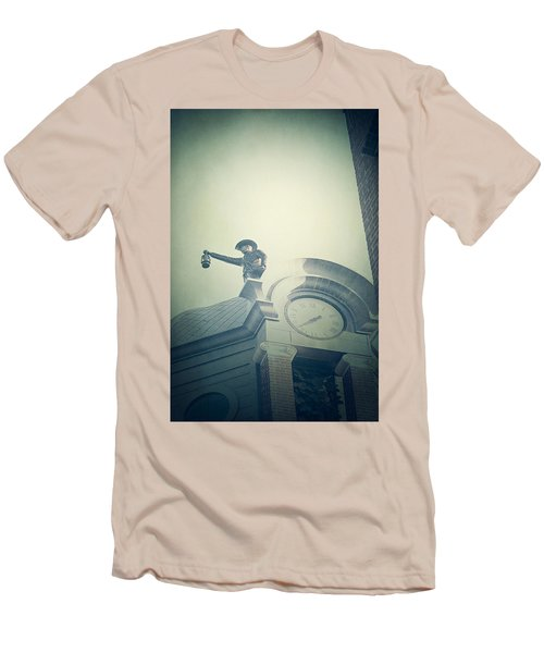 Men's T-Shirt (Slim Fit) featuring the photograph The Night Watchman by Trish Mistric