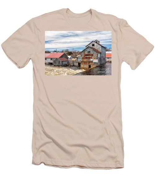 The Old Mill And The Raging River Men's T-Shirt (Athletic Fit)