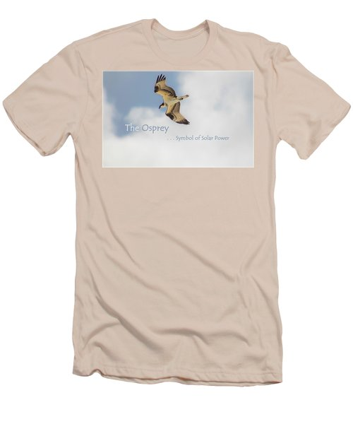 Men's T-Shirt (Slim Fit) featuring the photograph The Osprey by DigiArt Diaries by Vicky B Fuller