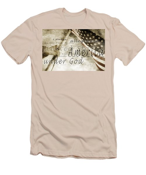The Pledge Of Allegiance And An Men's T-Shirt (Athletic Fit)