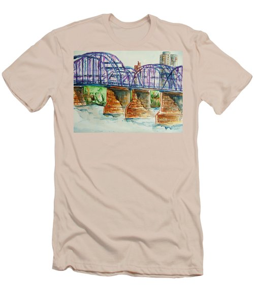 The Purple People Bridge Men's T-Shirt (Athletic Fit)