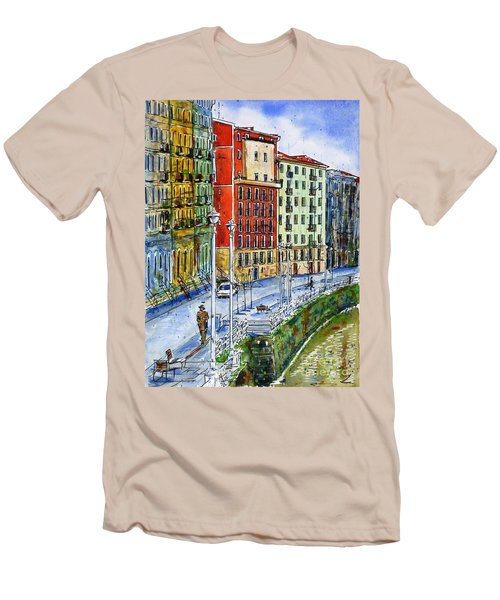 The Riverside Houses At Bilbao La Vieja Men's T-Shirt (Athletic Fit)