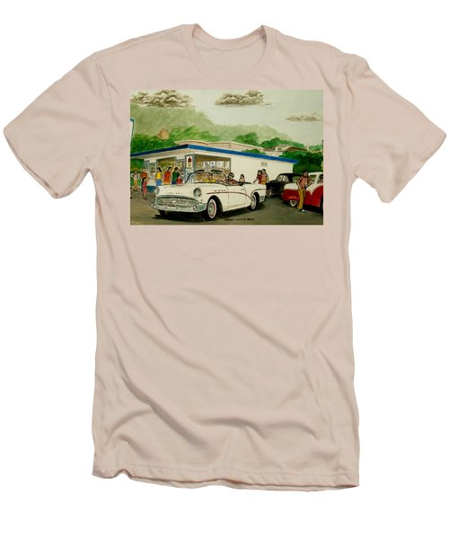 The Shake Shoppe Portsmouth Ohio 1960 Men's T-Shirt (Slim Fit) by Frank Hunter