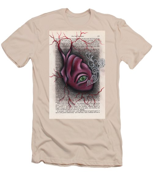 The Tell Tale Heart Men's T-Shirt (Slim Fit) by Abril Andrade Griffith