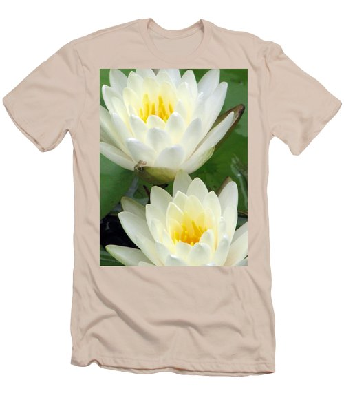 Men's T-Shirt (Slim Fit) featuring the photograph The Water Lilies Collection - 09 by Pamela Critchlow
