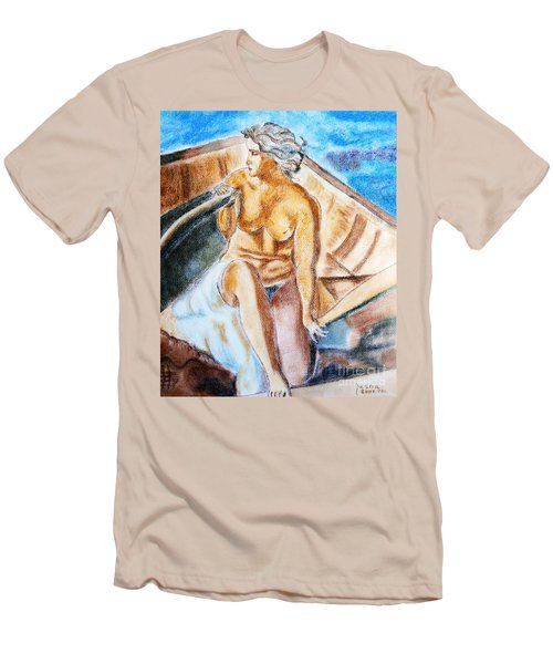 The Woman Rower Men's T-Shirt (Slim Fit) by Jasna Dragun