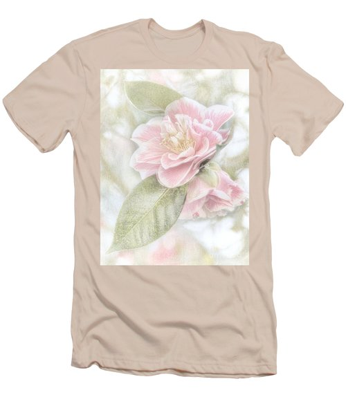 Men's T-Shirt (Slim Fit) featuring the photograph Think Pink by Peggy Hughes