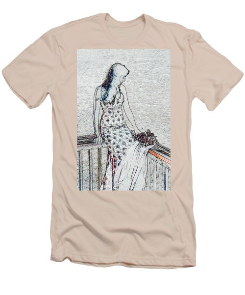 Thoughtful Men's T-Shirt (Slim Fit) by Leticia Latocki