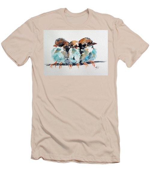 Three Birds Men's T-Shirt (Slim Fit) by Kovacs Anna Brigitta