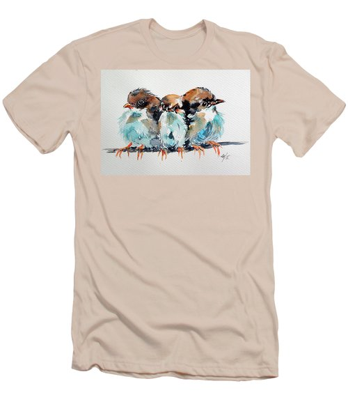 Three Birds Men's T-Shirt (Athletic Fit)