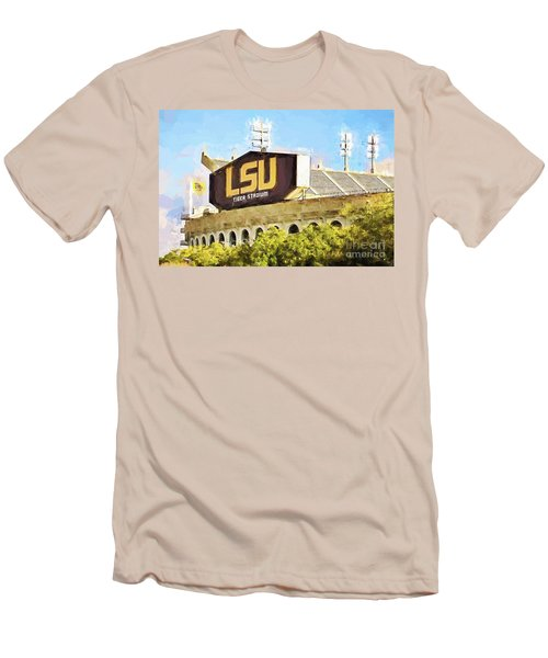 Tiger Stadium Men's T-Shirt (Slim Fit) by Scott Pellegrin