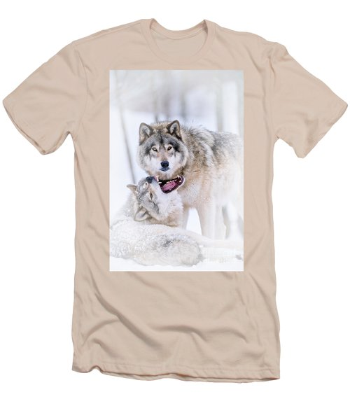 Timber Wolf Pictures 56 Men's T-Shirt (Slim Fit) by Wolves Only