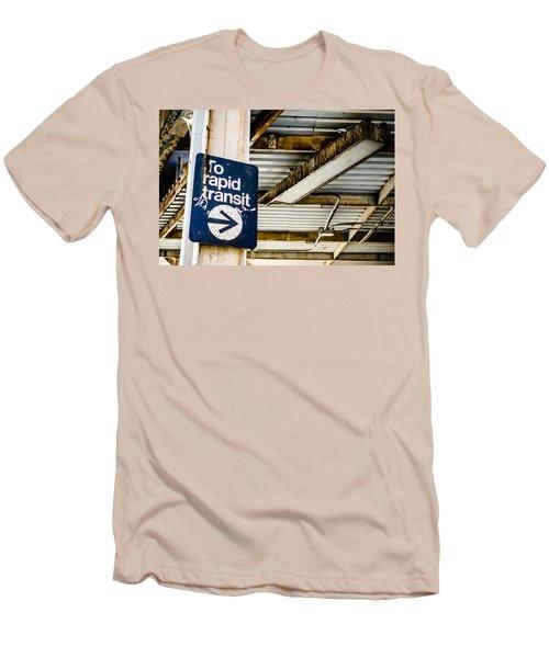 To Rapid Transit Men's T-Shirt (Athletic Fit)