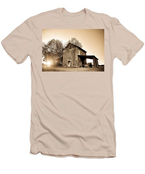 Tobacco Barn In Sunset Men's T-Shirt (Athletic Fit)