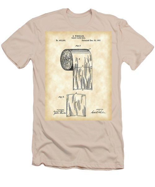 Toilet Paper Roll Patent 1891 - Vintage Men's T-Shirt (Athletic Fit)