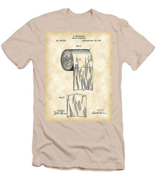 Toilet Paper Roll Patent 1891 - Vintage Men's T-Shirt (Slim Fit) by Stephen Younts