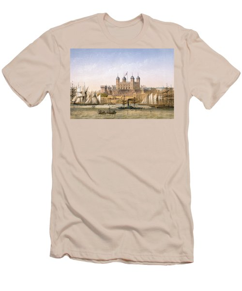 Tower Of London, 1862 Men's T-Shirt (Slim Fit) by Achille-Louis Martinet