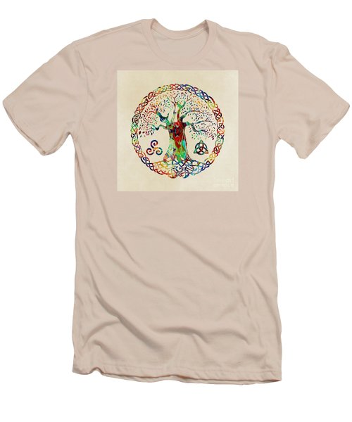 Tree Of Life Men's T-Shirt (Slim Fit) by Olga Hamilton