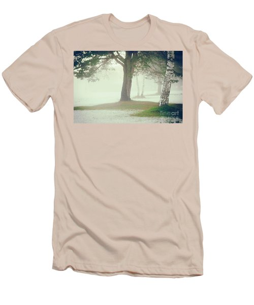 Men's T-Shirt (Slim Fit) featuring the photograph Trees In Fog by Silvia Ganora