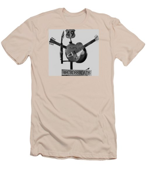 Tribute To The Blues At The Crossroads Men's T-Shirt (Slim Fit) by Dan Sproul