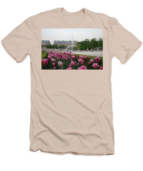 Tuileries Garden In Bloom Men's T-Shirt (Athletic Fit)