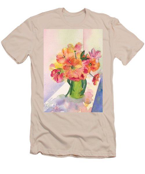Tulips For Mother's Day Men's T-Shirt (Slim Fit) by Anna Ruzsan