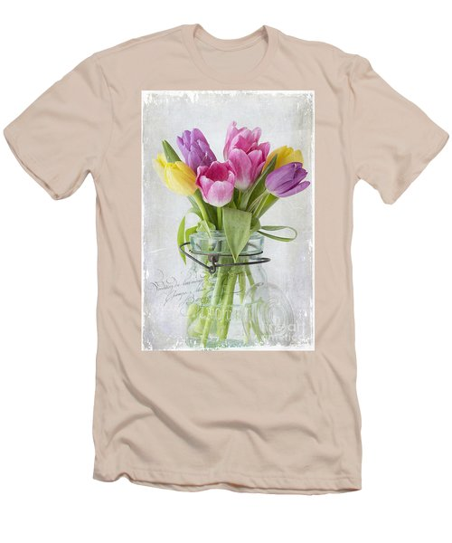 Tulips In A Jar Men's T-Shirt (Athletic Fit)