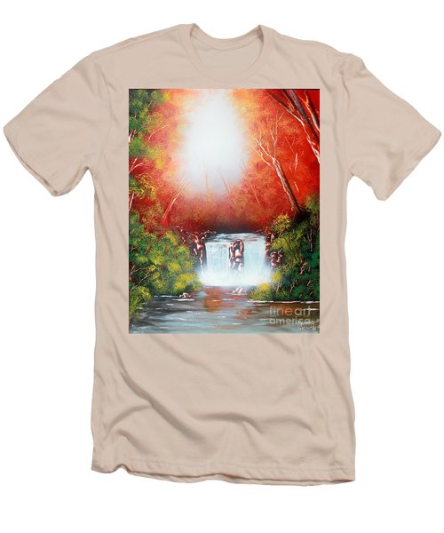 Twin Falls  Men's T-Shirt (Slim Fit) by Greg Moores