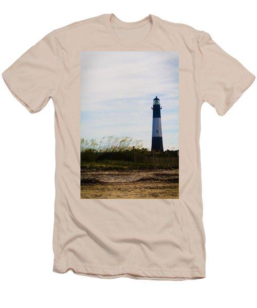 Tybee Island Lighthouse Men's T-Shirt (Slim Fit) by Jessica Brawley
