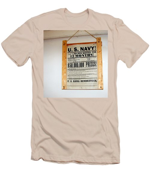 U. S. Navy Men Wanted Men's T-Shirt (Athletic Fit)
