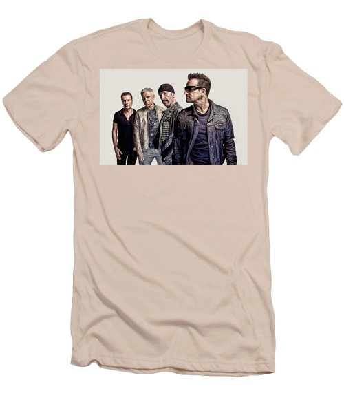 U2 Goup Men's T-Shirt (Athletic Fit)