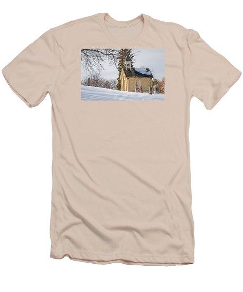 Union Cemetery Chapel Men's T-Shirt (Slim Fit) by Susan  McMenamin