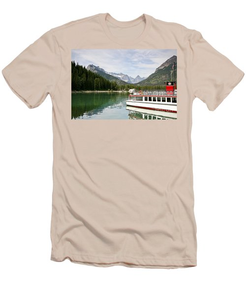 Men's T-Shirt (Slim Fit) featuring the photograph Upper Waterton Lakes by Teresa Zieba