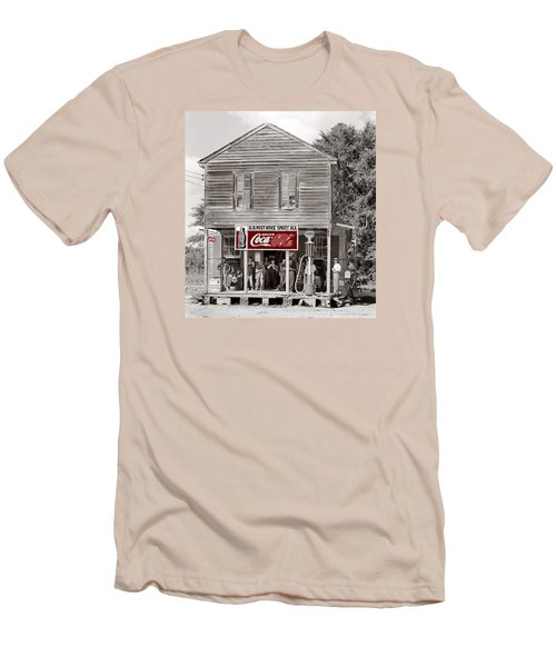 U.s. Post Office General Store Coca-cola Signs Sprott  Alabama Walker Evans Photo C.1935-2014. Men's T-Shirt (Slim Fit) by David Lee Guss