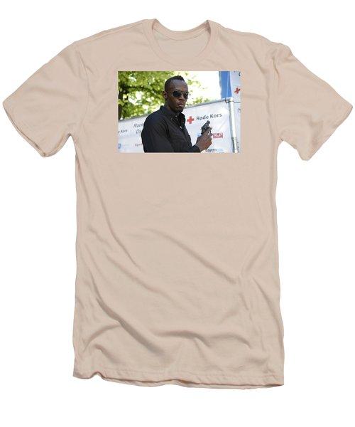 Usain Bolt - The Legend 4 Men's T-Shirt (Slim Fit) by Teo SITCHET-KANDA