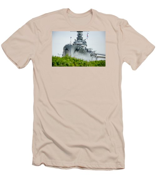 Men's T-Shirt (Slim Fit) featuring the photograph Uss Alabama 2 by Susan  McMenamin