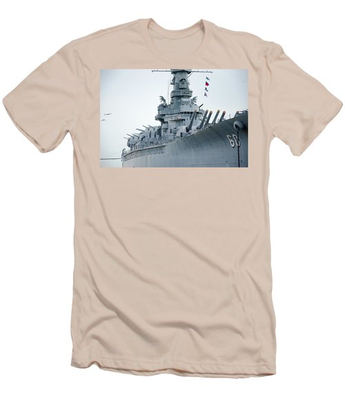 Men's T-Shirt (Slim Fit) featuring the photograph Uss Alabama 3 by Susan  McMenamin
