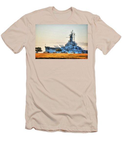 Uss Alabama Men's T-Shirt (Slim Fit) by Michael Thomas
