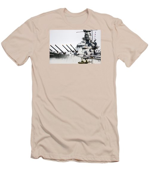 Men's T-Shirt (Slim Fit) featuring the photograph Uss Alabama by Susan  McMenamin