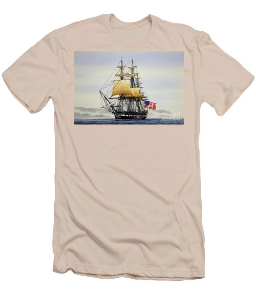 Uss Constitution Men's T-Shirt (Slim Fit) by James Williamson