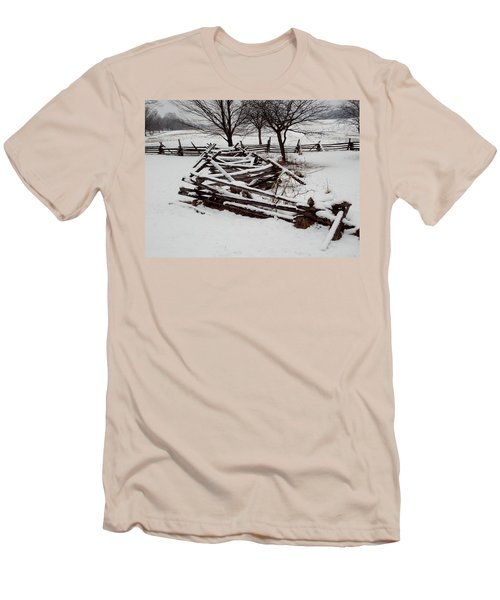 Valley Forge Snow Men's T-Shirt (Slim Fit) by Michael Porchik