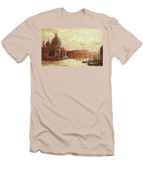 Venice - Santa Maria Della Salute Men's T-Shirt (Slim Fit) by Irek Szelag