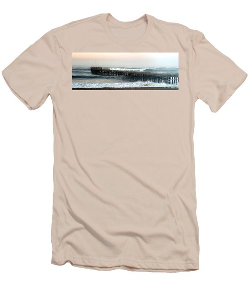 Men's T-Shirt (Slim Fit) featuring the photograph Ventura Storm Pier by Henrik Lehnerer