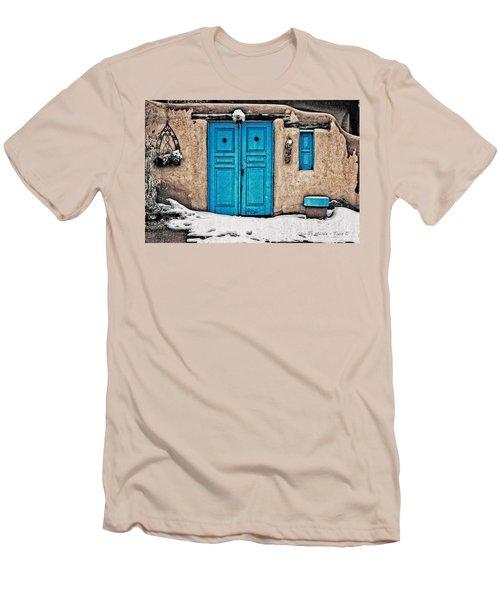 Very Blue Door Men's T-Shirt (Athletic Fit)