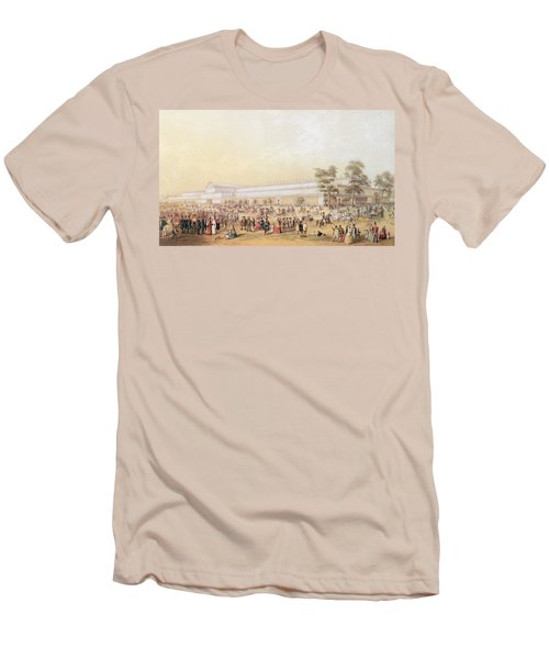 View Of The Crystal Palace Men's T-Shirt (Slim Fit) by George Baxter