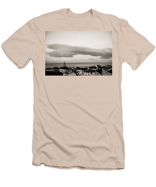 Village Rooftops At Sunrise Men's T-Shirt (Athletic Fit)